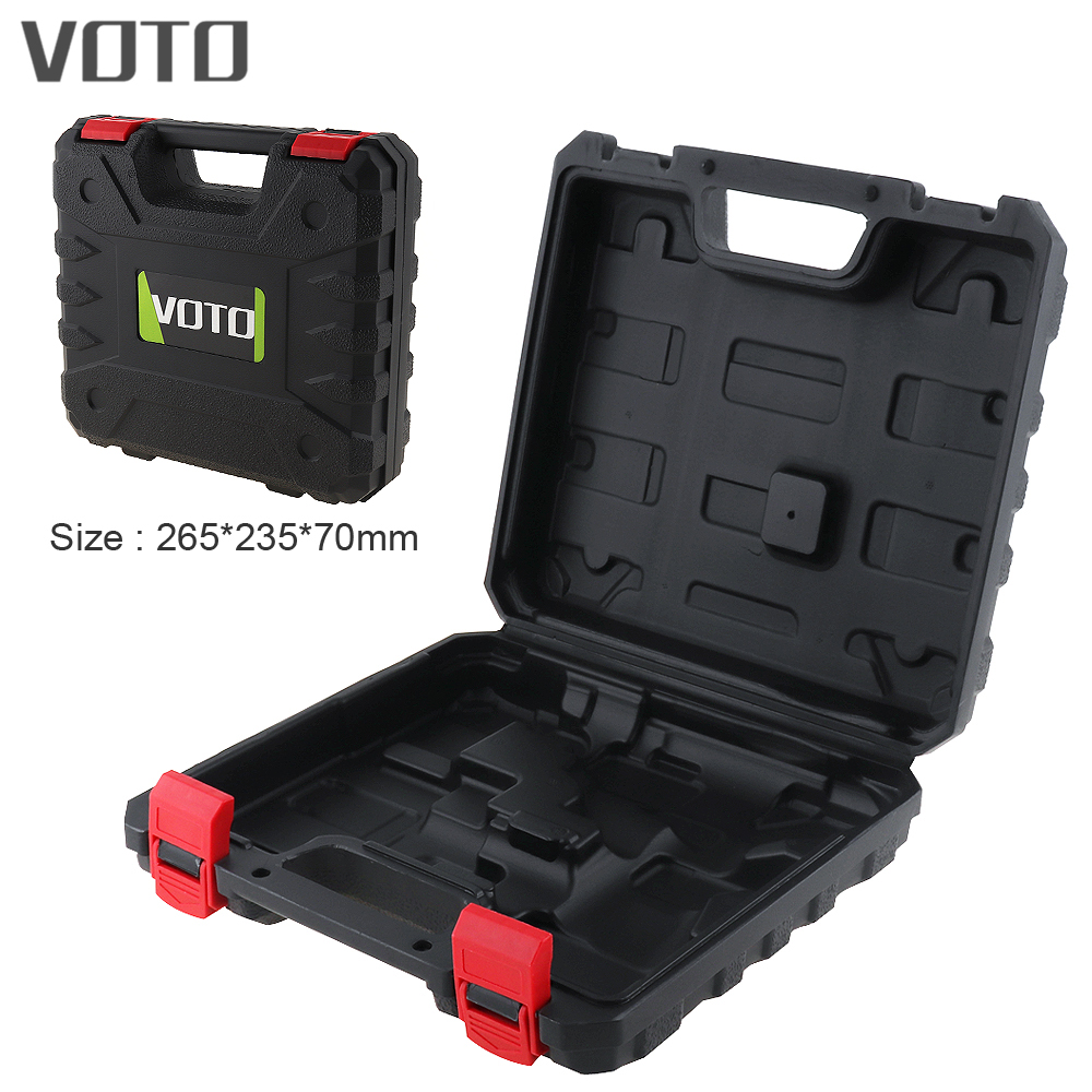 VOTO Power Tool Suitcase 12V Electric Drill Dedicated Load Tool Box with 265mm Length and 235mm Width for Lithium Drill