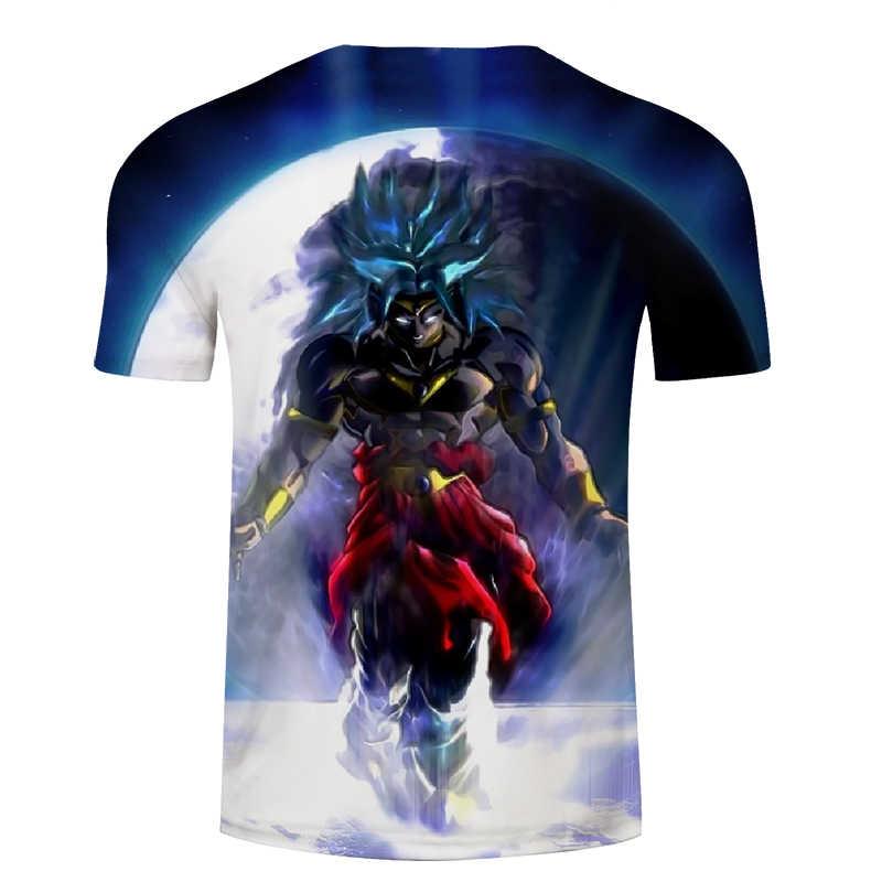 Black Warrior 3D พิมพ์ T เสื้อผู้ชายผู้หญิง tshirt Dragon Ball Tees ฤดูร้อนเสื้อยืด Anime Top สั้น Vegeta DropShip ZOOTOPBEAR