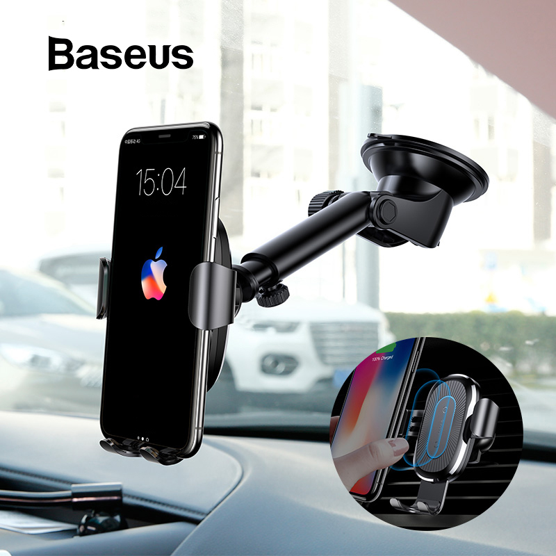Baseus 2 in 1 Car Wireless Charger For iPhone X Xs Xr Samsung S9 Note 9 Phone Charger Fast Wireless Charging Phone Holder Stand Baseus 2 in 1 Car Wireless Charger For iPhone X Xs Xr Samsung S9 Note 9 Phone Charger Fast Wireless Charging Phone Holder Stand
