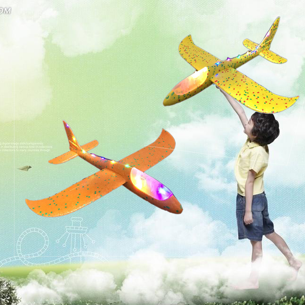 Hand Throw Airplane EPP Foam Outdoor Launch Glider Plane Kids Toys 48 Cm Interesting Launch Throwing Inertial Model Gift Funny