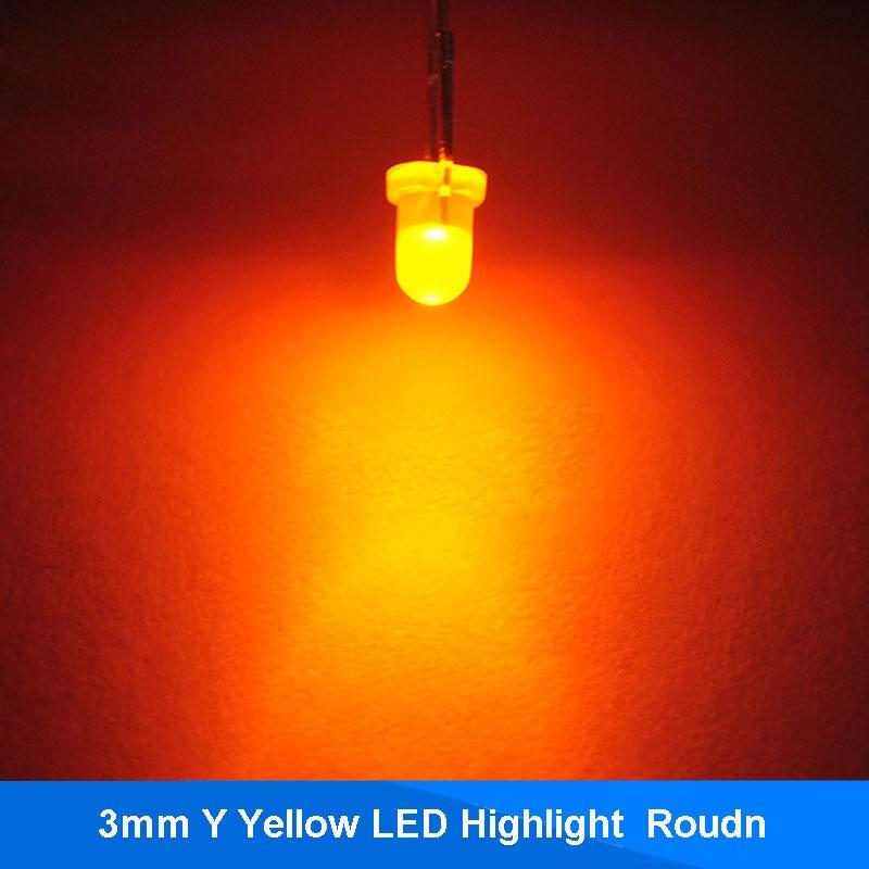 100pcs 3mm YELLOW Round Superbright LED Light LED lamp GOOD QUALITY