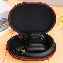 Headphone case headphone storage bag portable earphone protection cover EVA material to send mountaineering hook