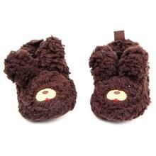 Девочка мальчик малышей теплые плюшевые тапочки мягкий Prewalker обувь 0 — 12 м