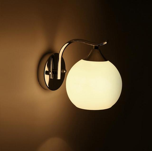 Modern simple European design LED ball hotel bedroom bedside lamp ...