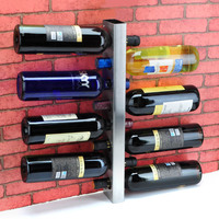 The 8 hole hanging against the thick stainless steel wine rack Wine rack bar hanging cabinet modern utility