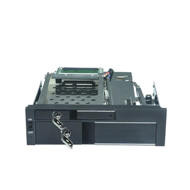 All aluminum casing 2.5+3.5in hot swap Muti-function SATA  HDD Mobile Rack