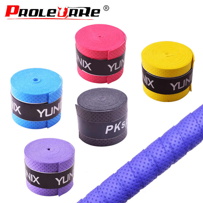 1Pcs Dry Tennis Racket Grip Anti-skid Sweat Absorbed Wraps Taps Badminton Grips Racquet Vibration Overgrip Sweatband Hot Sports