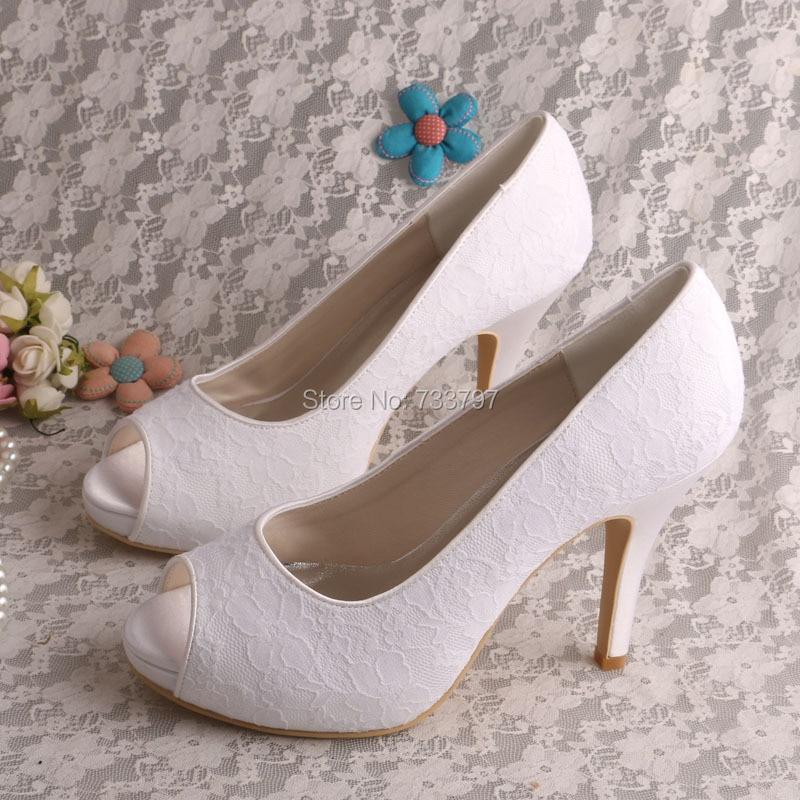 6 Colors Hot Selling White Platform Shoes Wedding Ladies Pumps Open Toe High Heel