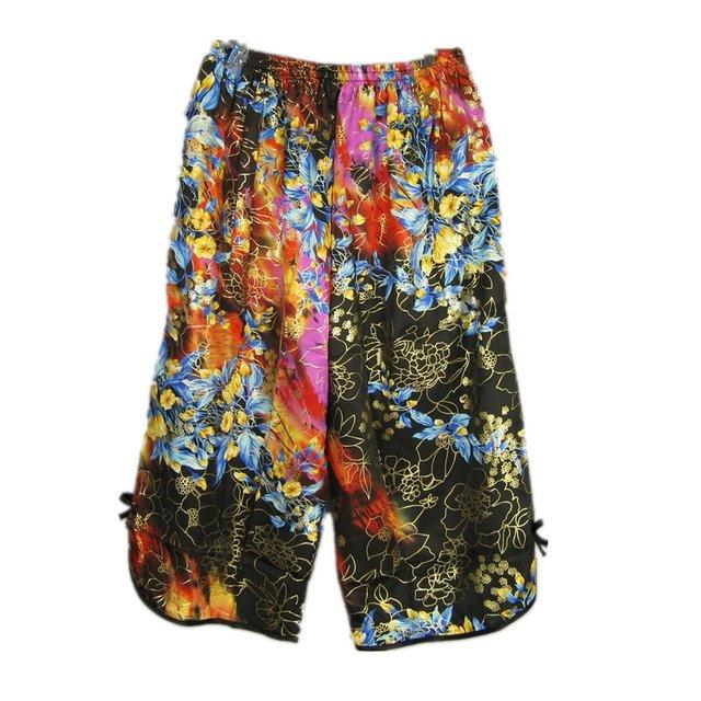 Pantalones Sueltos Pantalones Cortos de Seda Del Sueño de Seda de Los Capris de las mujeres Pantalones Delgados de Verano En casa Salón Pantalones Mujeres de Mediana Edad Del Sueño Bottoms