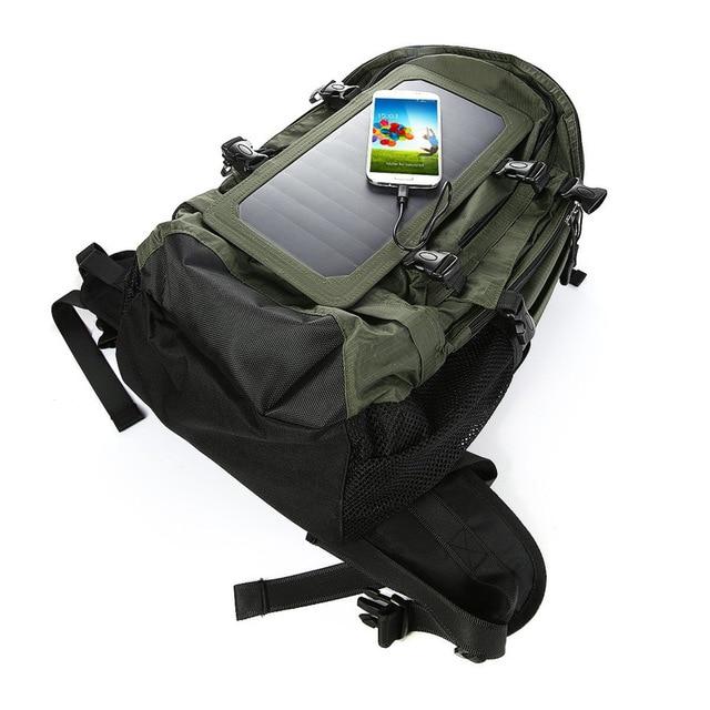 Solar backpack solar charging travel bag men and women shoulder bag mobile phone charging backpack 4