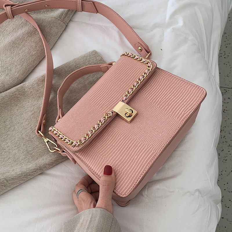 Vintage Fashion Female Tote bag 2019 New High Quality PU Leather Women's Designer Handbag Serpentine Lock Shoulder Messenger Bag