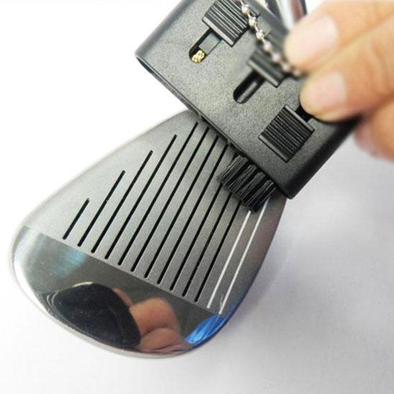 3-в-1 Гольф клуб ПАЗ клюшка клиновидная круглая щетка для чистки обувь очиститель Гольфист 3