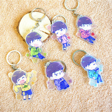 6pcs/set Portachiavi Anime Mr. Osomatsu Keychain Choromatsu Osomatsu San Matsuno Ichimatsu DPubleside Print Keychain Pendant