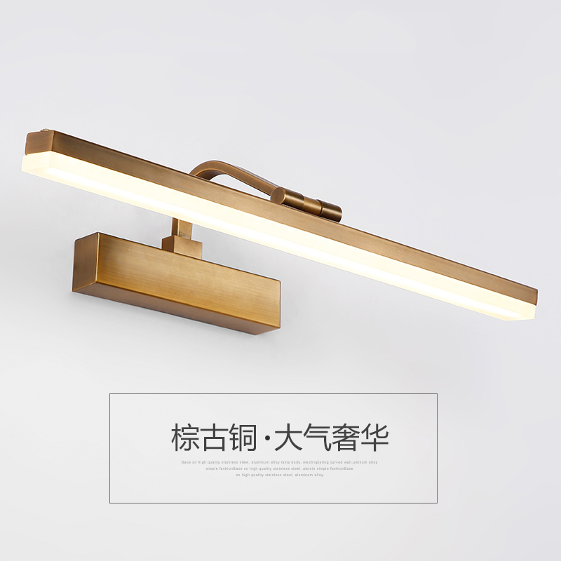 bathroom led mirror light Waterproof Retro Bronze Vanity Mirror Lights Led Wall Light Lamp Gold Mirror Wall sconces 90V-265V protective silicone back case for lg g2 d801 f320 f340l ls980 black