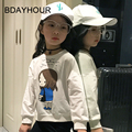2017 Spring Children'S Clothing New Cartoon Girl Printing 100% CottonThread Collar Short  Long-Sleeved Fashion Girl T-Shirts