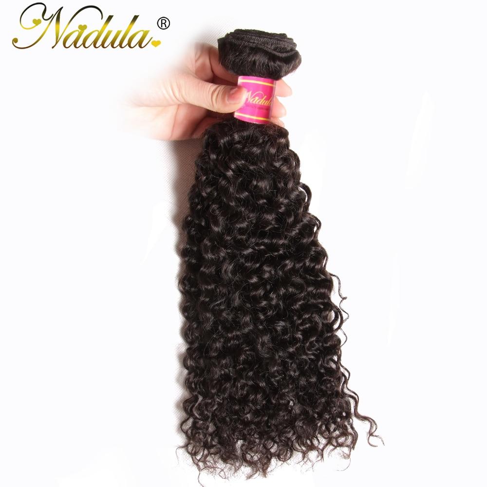 Nadula 머리 8-26inch 인도 곱슬 머리 100 % 인간의 머리 - 인간의 머리카락 (검은 색)