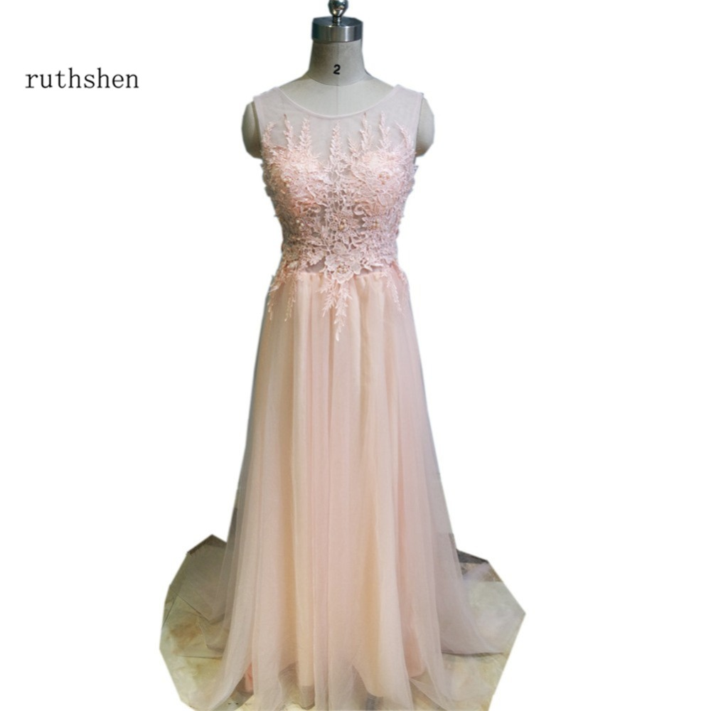robe bal de promo sheer cap sleeves lace appliques tulle backless long prom dresses in stock