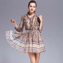 New 2017 Summer Dress Vestidos Dresses For Women Clothing high quality draped Casual Dress female Free Shipping YJLD-MI17010524