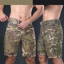 Мужские Военные Тактические камуфляжные костюмы для выживания, короткие брюки карго, летние уличные спортивные охотничьи походные шорты длиной до колен