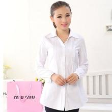 xxxl 4xl 5xl 6xl Large size womens Spring 2015 new Slim Plus shirt ladies tunic shirts white