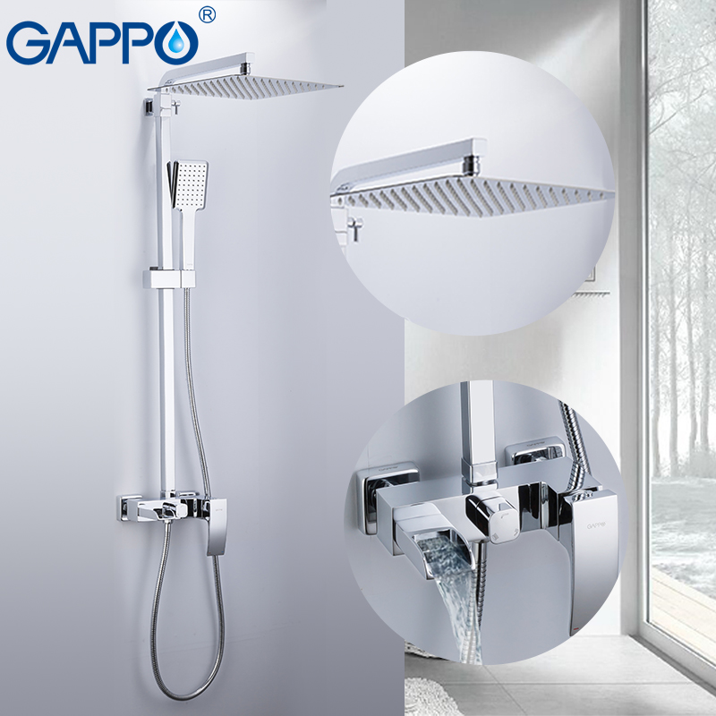GAPPO bathtub faucets massage showers for bathroom wall mounted shower heads waterfall rainfall bath mixer shower set           GAPPO bathtub faucets massage showers for bathroom wall mounted shower heads waterfall rainfall bath mixer shower set