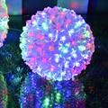 гирлянды светодиодные  Ac220v красочные оптово-изменение строка гирлянда водонепроницаемый из светодиодов рождество свет магия шар со светодиодной подсветкой строка фары новогодняя садовая гирлянда