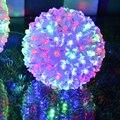 Iluminação do feriado 1 PC AC220V colorido Mudando luces guirlanda de Natal à prova d' água LEVOU Bola lâmpada AC 220 V led string