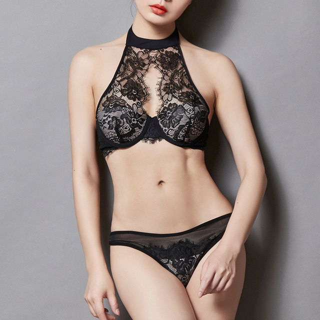 73ab2eb1d37d6 Nieuwe collectie sexy lace bra slips set sexy vrouw lolita meisje beha set  kant vrouw ondergoed