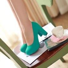 Fashion Block Heel Platform Shoes