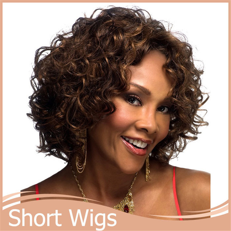 1pc Afro Kinky Curly Wig Short Wigs Synthetic For African