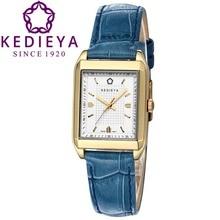 Kedieya часы женщин классические швейцария Ronda кварцевые часы натуральной кожи прямоугольник водонепроницаемый женские платье часы золото