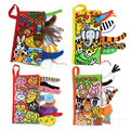 Animal tail cloth book Baby  toys ,teether rattle chicco tiff 925 pram  teethers maracas sozzy obal playgro bibi taggies mobile