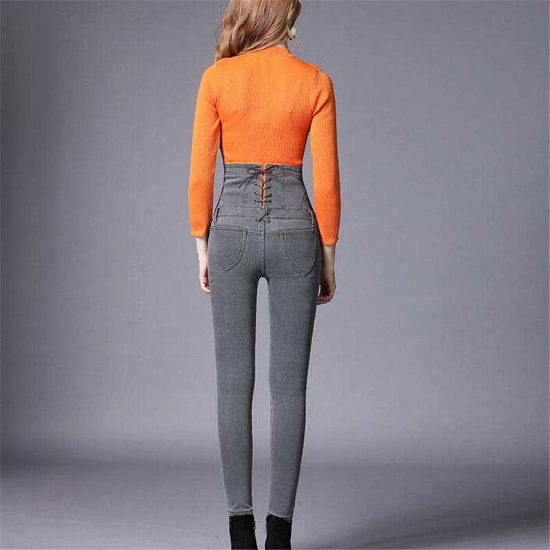New Women Winter Thick Thermal Fleece Jeans Denim Pants High Waist Trousers Slim