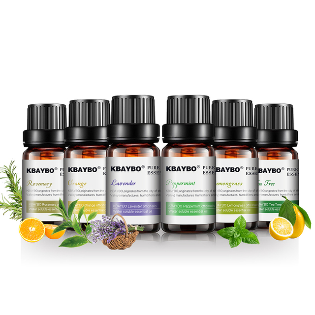 Essential Oils for Diffuser, Aromatherapy Oil Humidifier 6 Kinds Fragrance of Lavender, Tea Tree, Rosemary, Lemongrass, Orange 2