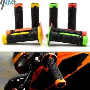 Image 1 - 22mm Universal Motorcycle Handle Handlebar Moto Hand Bar Grip For Kawasaki KLX150S KX450F KLX110 KX250F KLX140 KLX140L 4 colors
