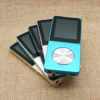 HiFi Metal MP4 Player Built In Speaker 1 8 Inch Screen 4GB MP4 Support SD Card