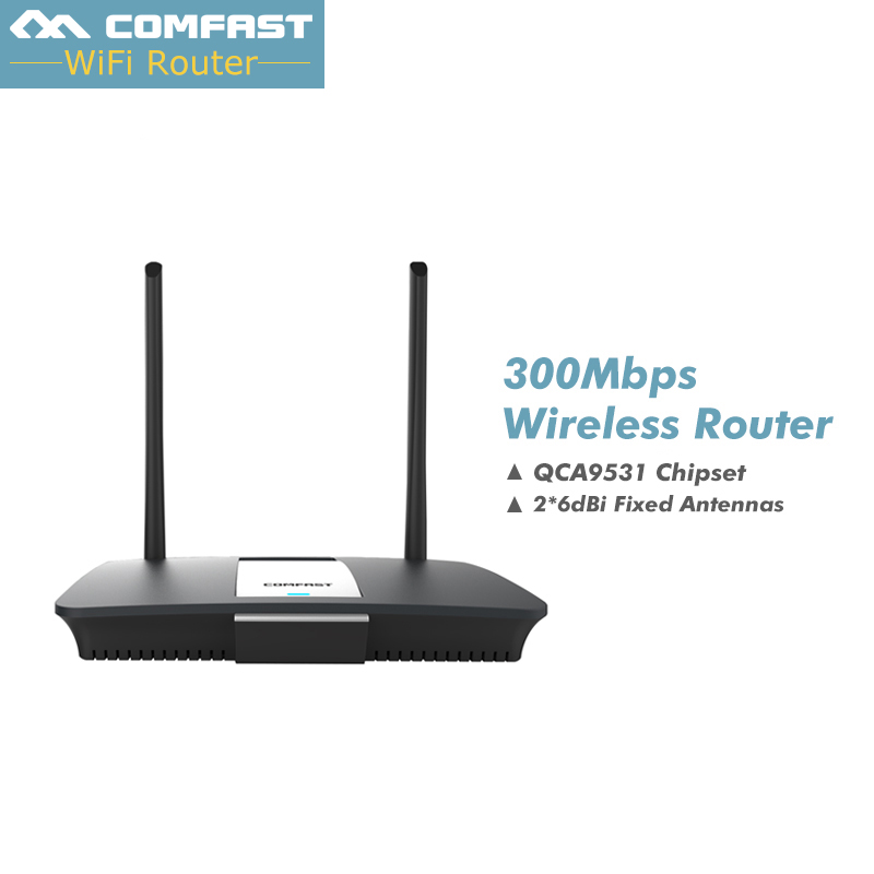 300Mbps industrial Comfast  CF-WR610N wireless wifi router with dual antenna QCA9531 chipset 4 RJ45 LAN 1 WAN comfast cf ac100 ac gate way controller mt7621 880mhz core gigabit gate way wifi project manager with 4 1000mbps wan lan port