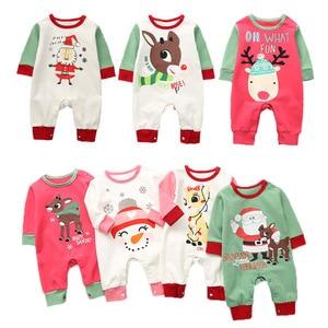 2018 boże narodzenie noworodka renifer pajacyki z pełnym rękawem małe dziewczynki kombinezony jesień zima niemowląt chłopcy stroje zwierząt