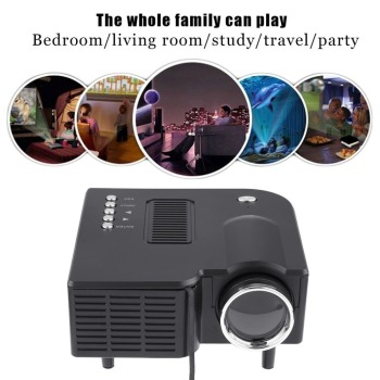 UC28+ Mini Portable 1080P HD Projector LED LCD Home Cinema Theater Upgraded HDMI Interface Entertainment  beamer proyector hot early educational learning machine for children built in speakers hdmi mini led entertainment projector home cinema theater