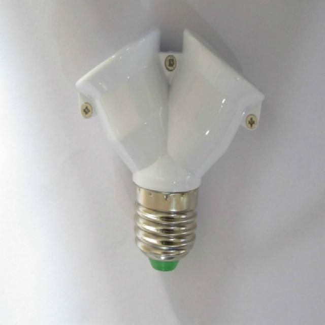 Διαχωριστής για ντουί ε27 με διπλή υποδοχή λαμπτήρων τύπου led-cfl