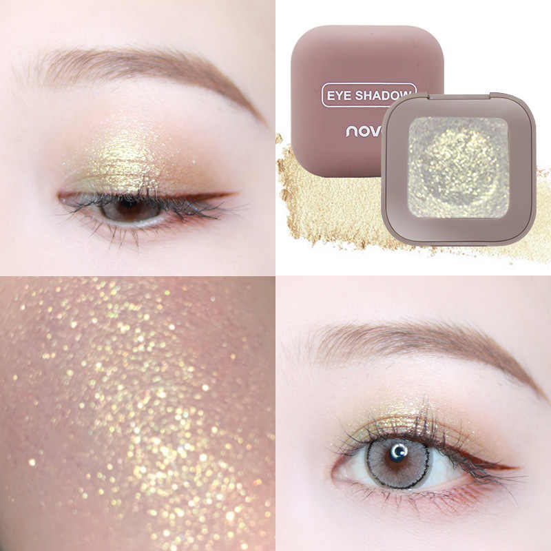 Silky sheen powders 10 Color Single High Light Eye Shadow Mashed Potato Texture Shimmer Pearl Light Eye shadow Makeup Tool
