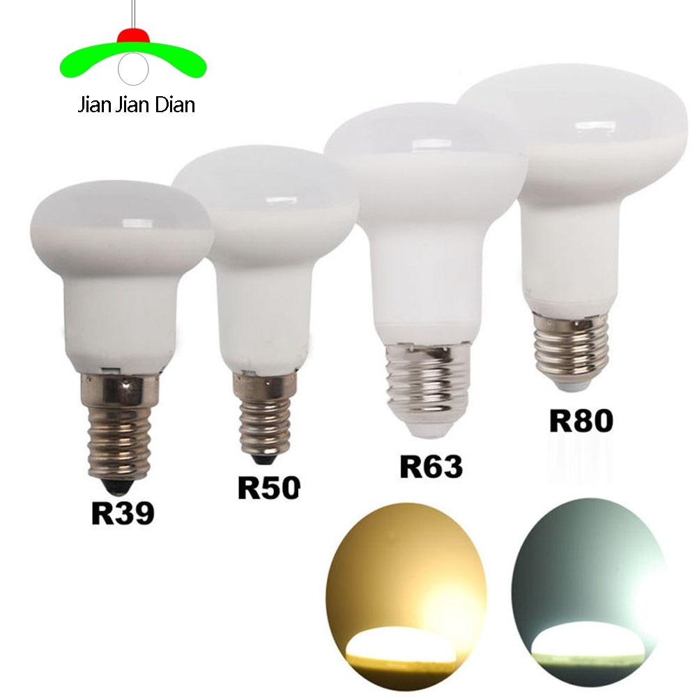JianJianDian R39 R50 R63 R80 led bulb 3W 7W 10W 14W E14 E27 base dimmable led Umbrella Bulb White/Warm AC85~265V SpotLight Lamp led light bulb r50 r63 r80 e14 e27 b22 5w 7w 9w 5730smd reflector light lamp bulb pure warm natural white lighting ac85 265v