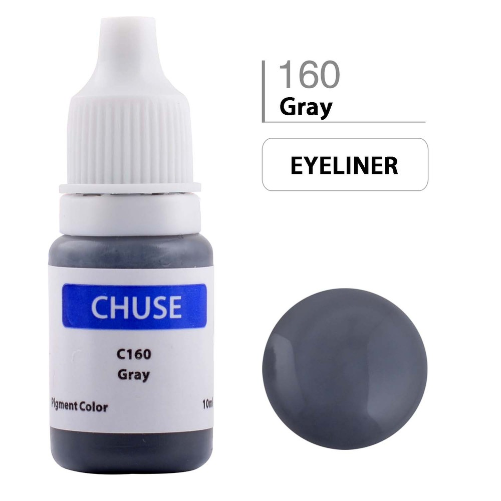 CHUSE C1 Permanent Makeup Ink 6 Colors Professional Tattoo Ink Supply for Eyeliner & Eyeliner Shaded Cosmetic microblading 12