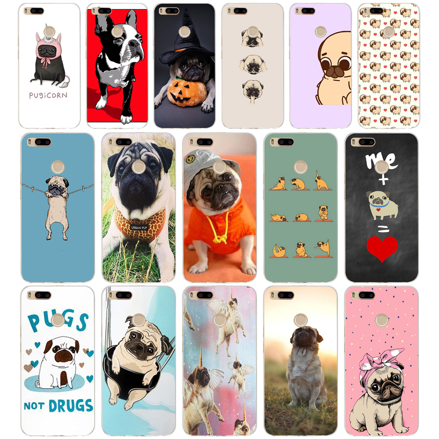 68SD Funny <font><b>Pug</b></font> Life Soft Silicone Tpu <font><b>Cover</b></font> phone Case for <font><b>xiaomi</b></font> redmi 4A 4X note 4 4x <font><b>mi</b></font> A1 <font><b>A2</b></font> lite image