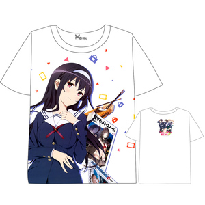 Anime  Saenai Heroine no Sodatekata  t shirt Men Women Short Sleeve Summer dress cartoonT shirt