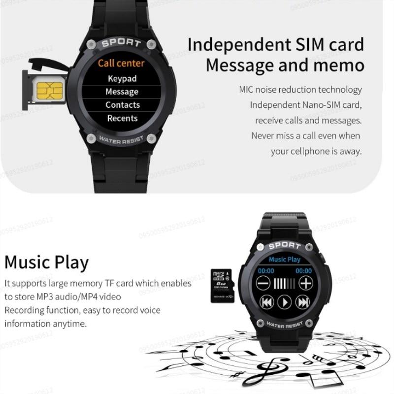 № 1 G9 1,3 дюймов gps Bluetooth Смарт часы на открытом воздухе сердечного ритма вызова несколько спортивных режимов IP67 Смарт часы мобильного телефона для мобильного телефона 2G GSM часы телефон - 3