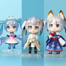 Nendoroid Anime Hatsune Miku 2018 special edition Q version snow Miku PVC Action Figure Collection Model Toys For Gift