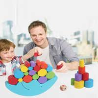 Pädagogisches Montessori Spielzeug Für Kinder Mond Balancing Holz Bausteine Rahmen Balance Übung Spiel Frühe Entwicklung Spielzeug