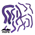 13PCS Original Logo Radiator Coolant Heater Silicone Hose TYPE R For Civic EP3 Honda K20A2 2001-2005 Purple