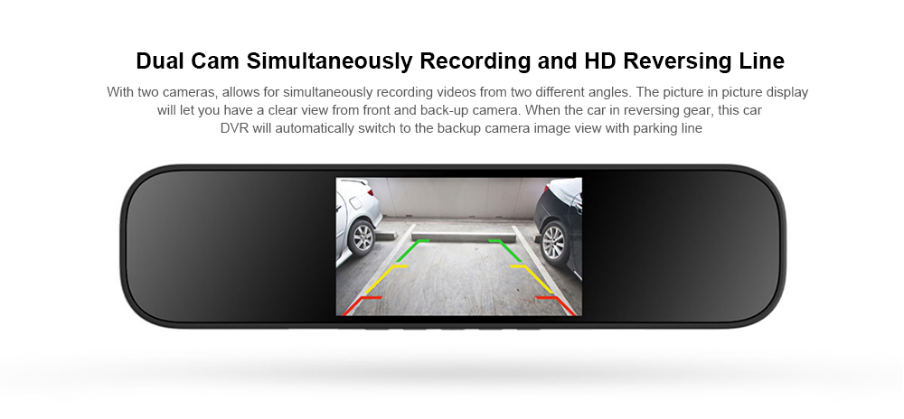 Xiaomi Mijia Rearview Mirror Driving Recorder Hd Night Vision 1080P Car Reversing Image Parking Monitoring Intelligent Voice Con
